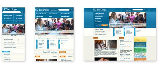 UCSD's responsive site