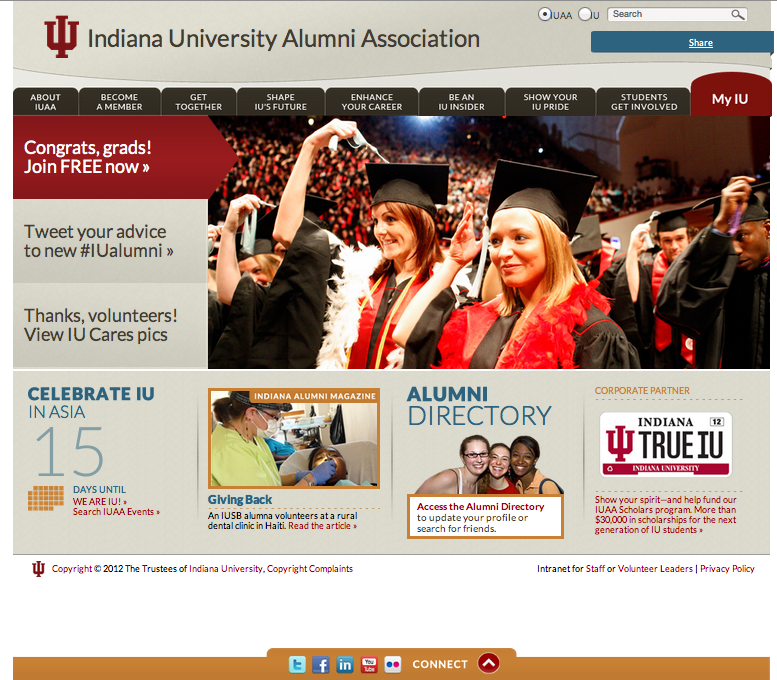 Relaunched IU Alumni Association Website