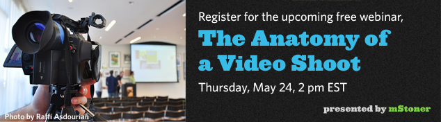 register for the anatomy of a video shoot