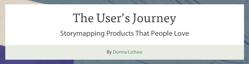 users journey book