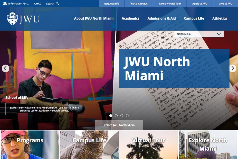 JWU-Mockup campus page
