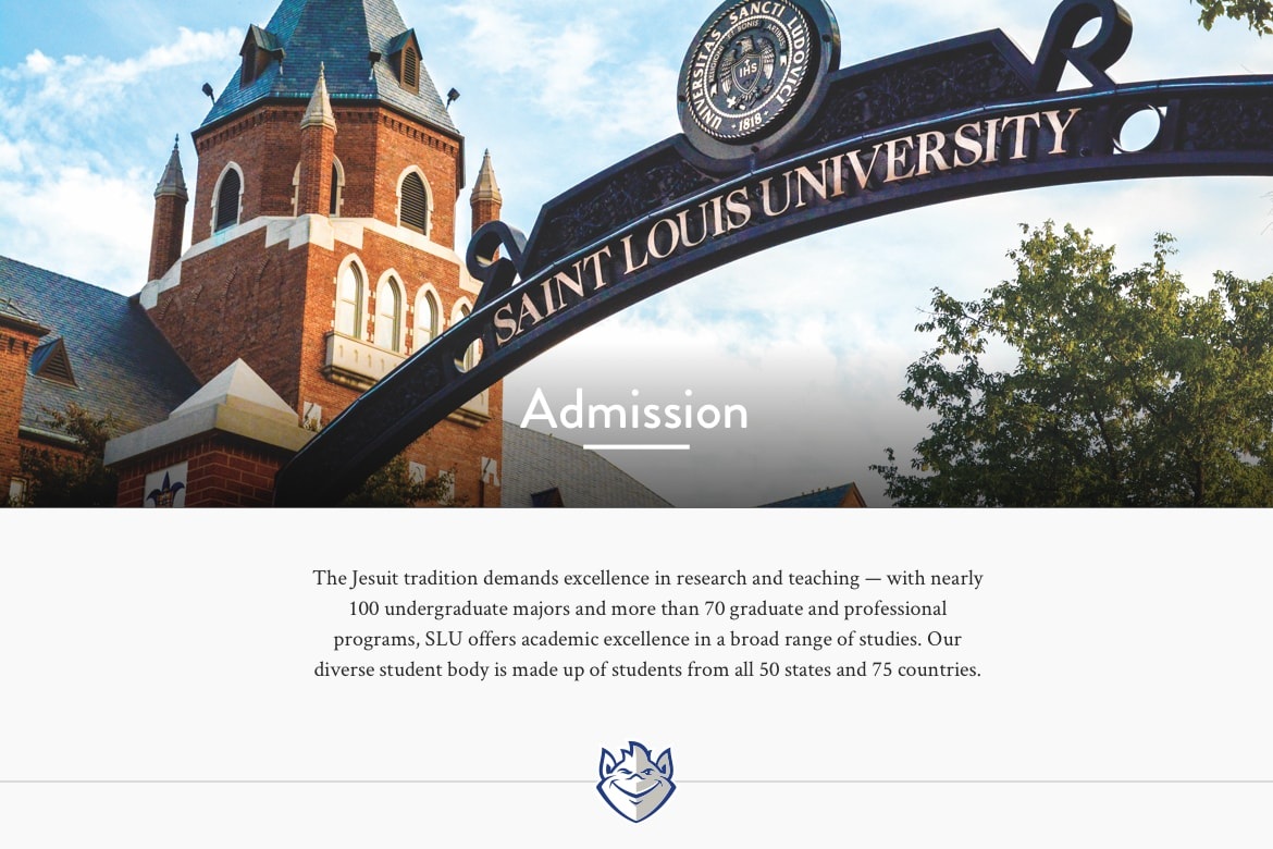 admissions and front gate page display