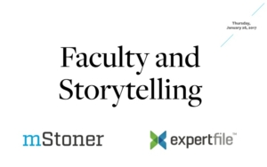 faculty and story telling slide image