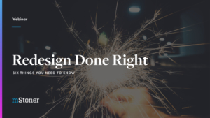 redesign done right title slide
