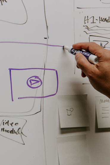 planning on whiteboard