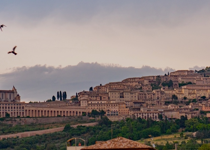 landscape view of assisi italy