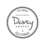 graphic of gold davey award icon