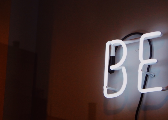 neon sign that says best