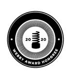 Webby Honoree black and white award graphic