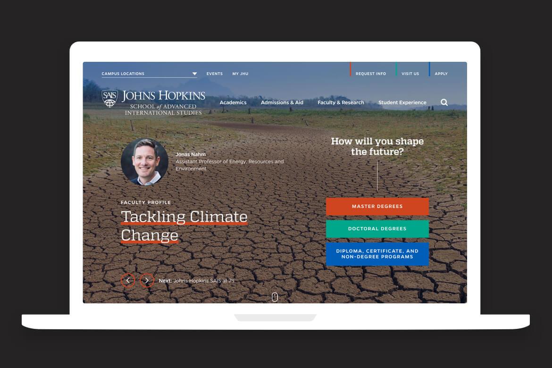 mockup of home page