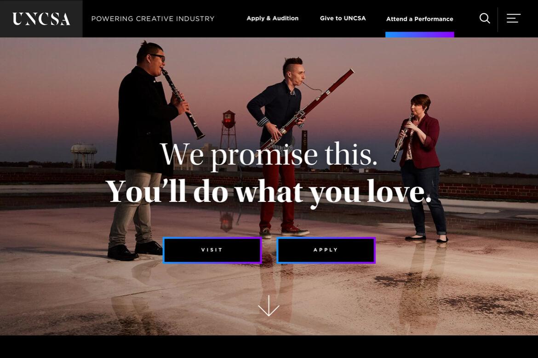 mockup of homepage