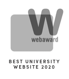 2020 Web Award Best University Website Graphic