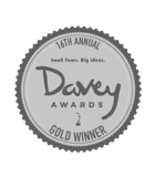 davey award graphic icon, gold