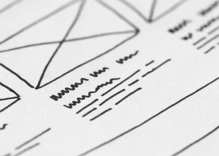 illustration of content wireframes