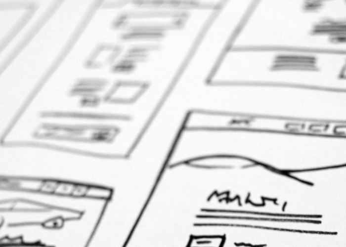 content wireframe illustration