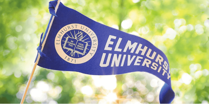 Elmhurst pennant waving