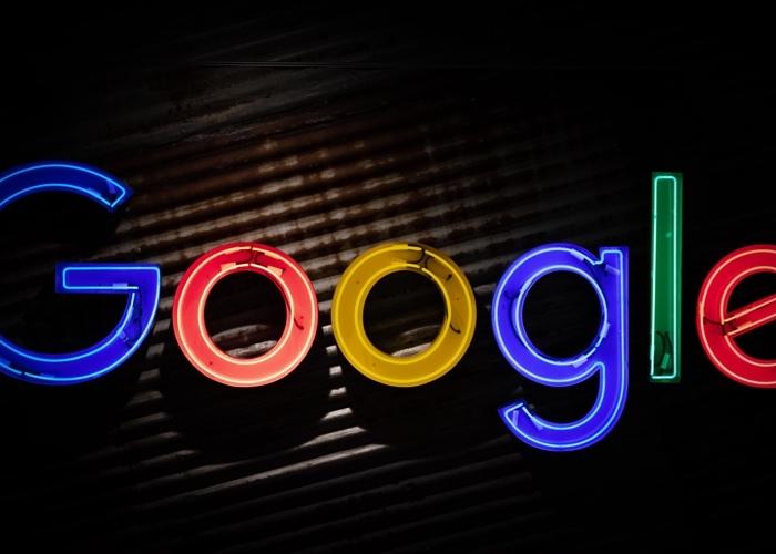 Google letters in neon lights
