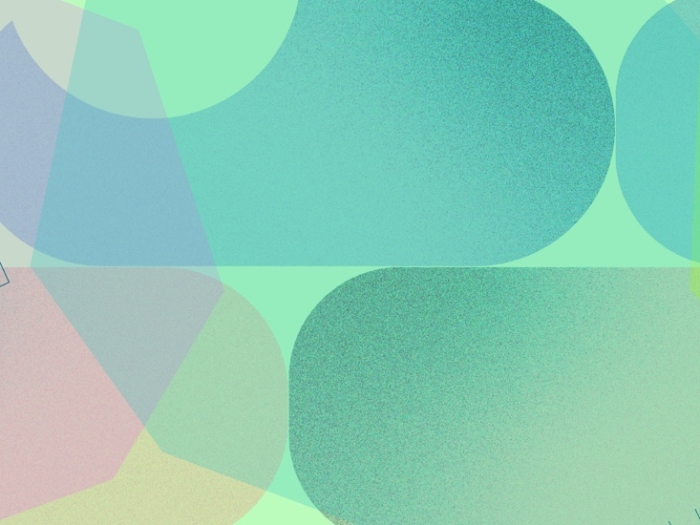colorful geometric shapes colliding
