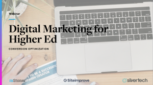 Digital marketing for higher ed: conversion optimization cover slide