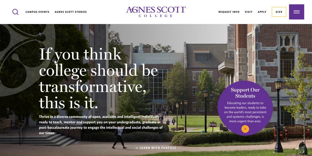 Agnes Scott College homepage