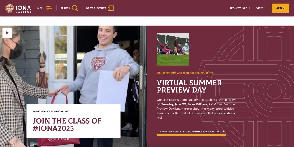 Iona College homepage
